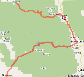 Us Pro Cycling Challenge Route Map Official Route Map Stage 2 USA Pro Cycling Challenge   Mountain