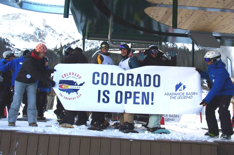 Arapahoe Basin Opens the 2012-13 Season for Colorado Skiers and Riders