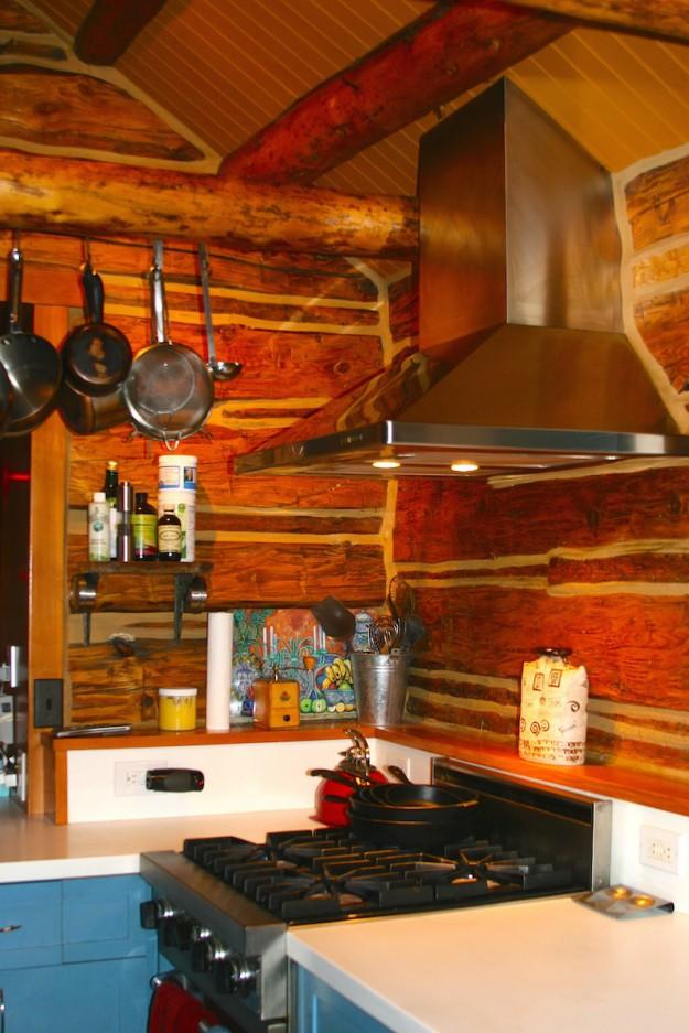 Log Home Kitchen copy