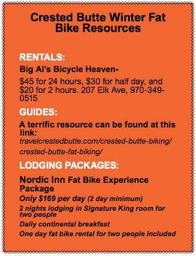 Crested Butte Fat Biking Resources