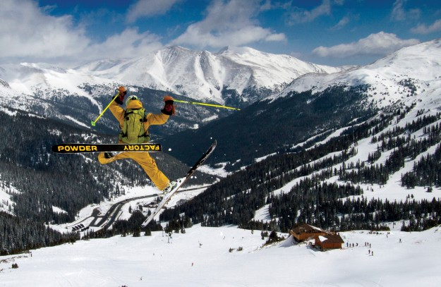 Skiing Magazine Indie Ski Tests. Photo: Casey Day, Skier: Eben Mond, Location: Loveland Ski Area, Colorado