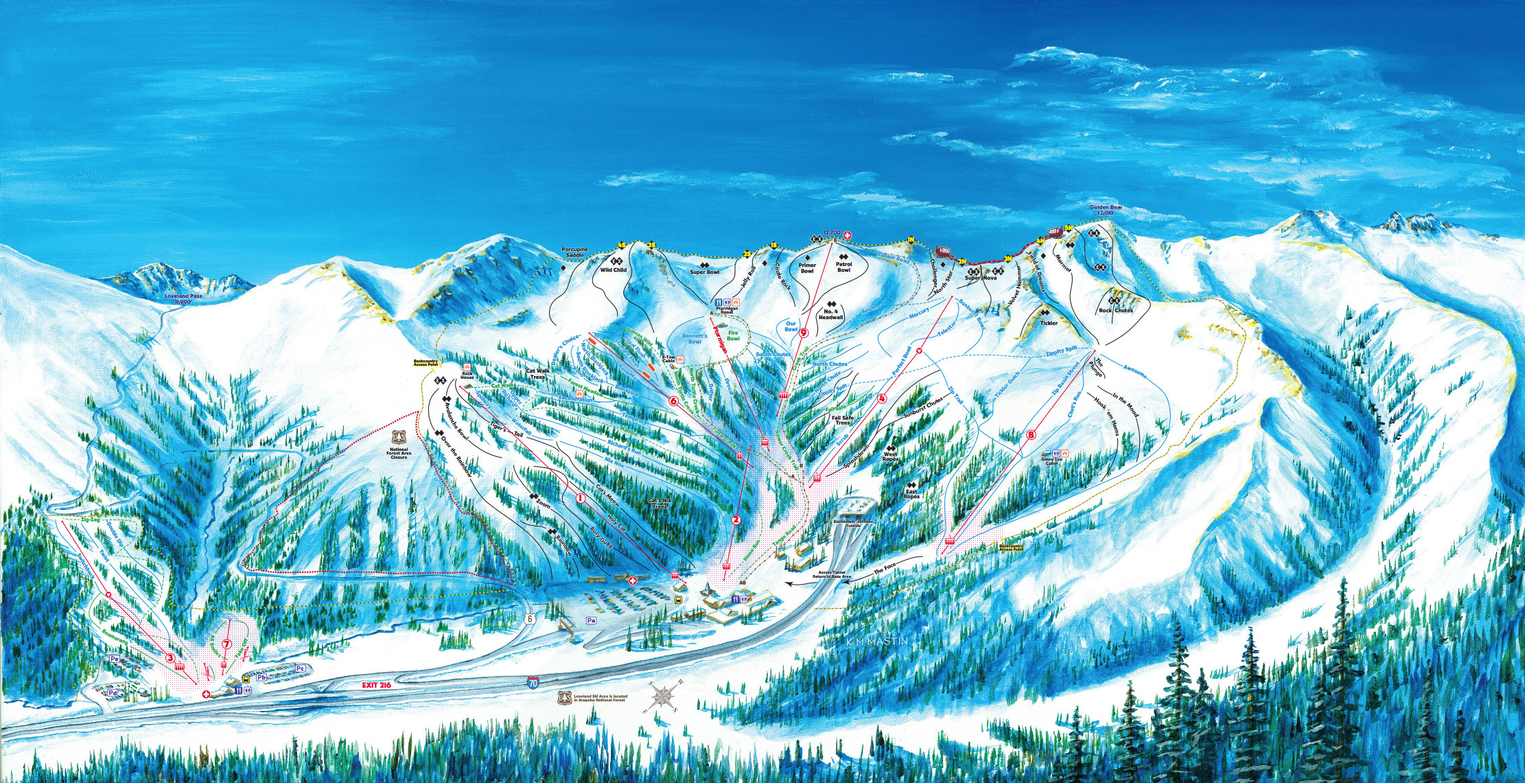 Loveland Ski Map