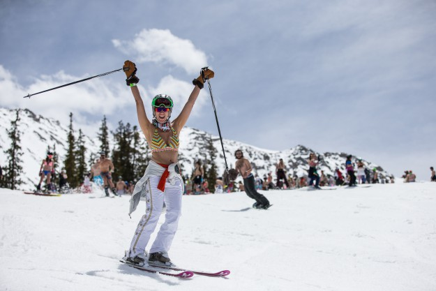 Arapahoe Basin May 21, 2016 - Swimsuit Parade. (Photo by Dave Camara)