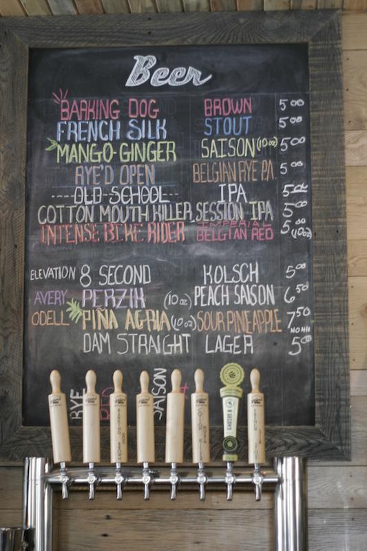 Bakers Brewery Beer Board