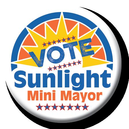 Sunlight Mini Mayor campaign button
