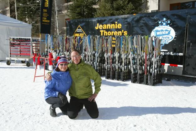 Jeannie Thoren's Ski Clinics, Seminars, Demos for Women. Negotiate usage rights with: Photo © Tim Hancock 500 Grant Ave., Louisville, CO 80027 303.665.7335 e-mail: timhancockphoto@juno.com